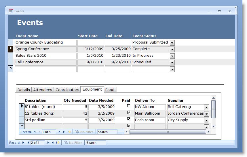 Microsoft Access 2003 Service Template Brownbest